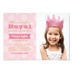 Prinzessin der Foto-Geburtstags-Party Einladungs-| Personalisierte Einladung