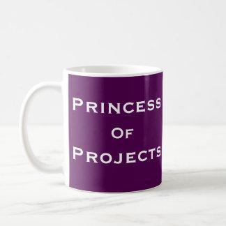 Prinzessin des Projekt-Frauen-Projektleiter-Namens Tasse