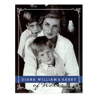 Prinzessin Diana von Wales wird und Harry Postkarte
