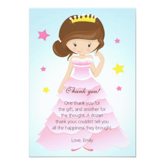 Prinzessin Dress Thank You Card Karte