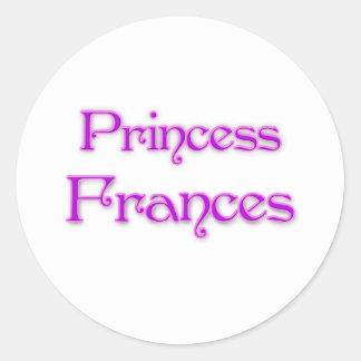 Prinzessin Frances Runder Aufkleber