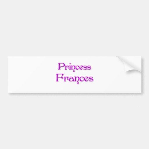 Prinzessin Frances Autosticker