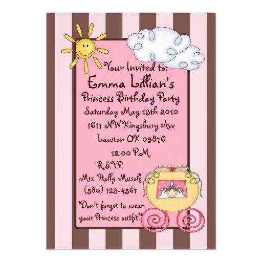 Geburtstag rosa das braun niedlich personalisierte einladungen