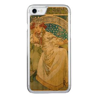 Prinzessin Hyacinth Art Nouveau Alphonse-Mucha Carved iPhone 8/7 Hülle
