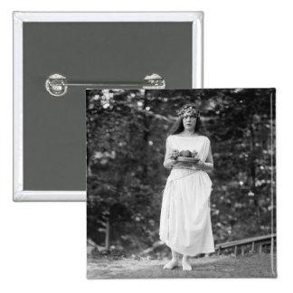 Prinzessin Ida Cantacuzene: 1922 Quadratischer Button 5,1 Cm