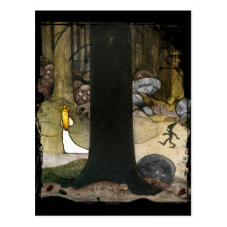 Prinzessin im Holz Postkarten