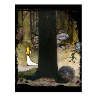 Prinzessin im Holz Postkarte