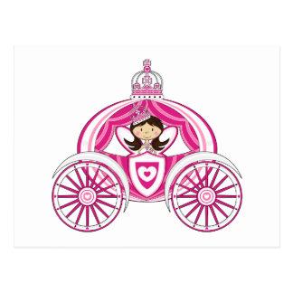 Prinzessin in der Kutsche-Postkarte Postkarte