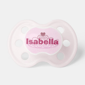 Prinzessin Isabella Pink Pacifier Personalize It1 Schnuller
