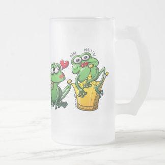Prinzessin ist ein Frosch jetzt Mattglas Bierglas