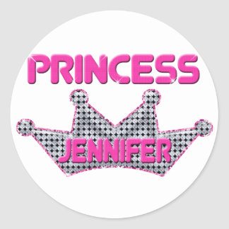 Prinzessin Jennifer Runde Aufkleber