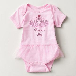 Prinzessin Mia, zacken Ballettröckchen, addieren Baby Strampler