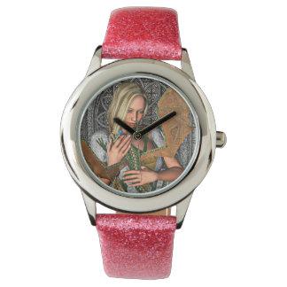 Prinzessin mit Drachen Armbanduhr