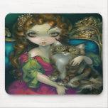 """""""Prinzessin mit einer Maine-Waschbär-Katze"""" Mousep Mousepads"""