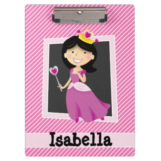 Prinzessin mit lila Kleid; Rosa u. weiße Streifen