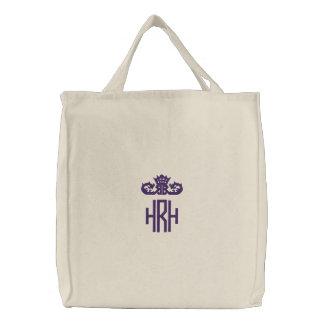 Prinzessin Monogram Tote Bestickte Tasche