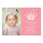 Prinzessin Party Foto Birthday Invitation Ankündigungskarte