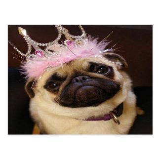 Prinzessin Pug Postkarte