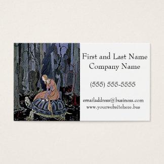 Prinzessin Rides eine Schildkröte-Illustration Visitenkarte