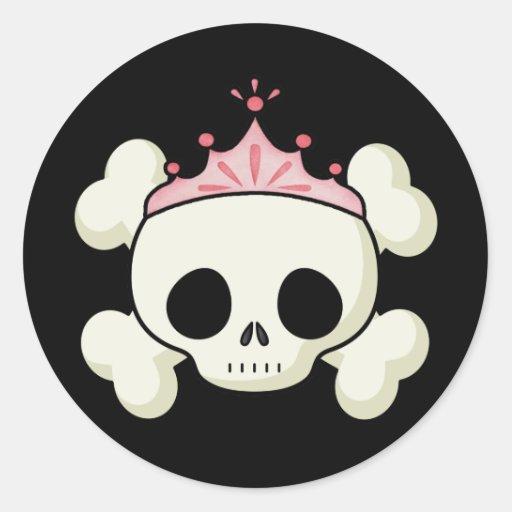 Prinzessin Skull Aufkleber