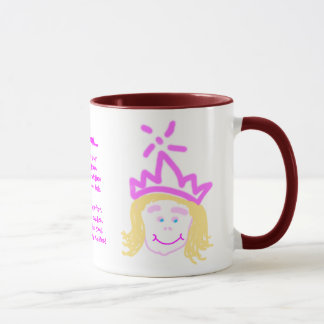 Prinzessin-Tasse der Mutter Tages Tasse