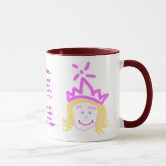 Prinzessin-Tasse der Mutter Tagesmit Vers Tasse