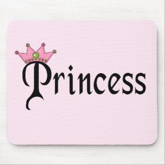 Prinzessin Text mit Krone Mauspad