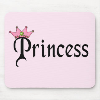 Prinzessin Text mit Krone Mousepad
