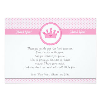 Prinzessin Thank You Card Note Karte