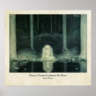 Prinzessin Tuvstarr John-Bauer, das nach ihrem Her Plakate