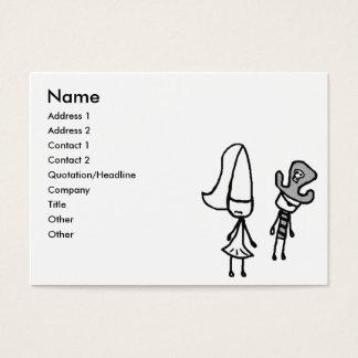 Prinzessin-u. Piraten-Gekritzel Jumbo-Visitenkarten