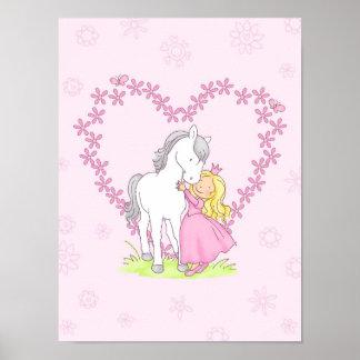 Prinzessin und Pferd Poster
