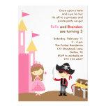 Prinzessin-und Piraten-Einladung