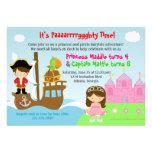 Prinzessin-und Piraten-Zwillings-gemeinsames Personalisierte Ankündigung
