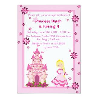 Prinzessin-und Schloss-Geburtstags-Party Einladung