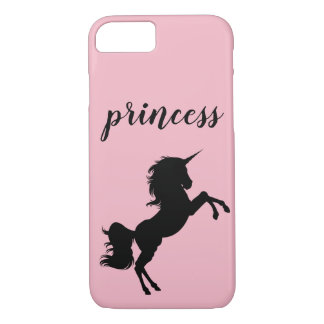 Prinzessin Unicorn Phone Case, rosa iPhone 8/7 Hülle