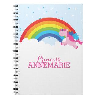 Prinzessin Unicorn Spiral Notizbücher