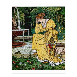 Prinzessin vom Frosch-Prinzen Postkarte
