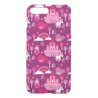 Prinzessinschloss und Einhornregenbogen iPhone 8 Plus/7 Plus Hülle