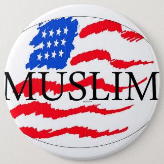 Prinzipien des Lebens - moslemischer Amerikaner Runder Button 15,3 Cm