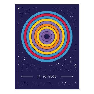 Priorität Postkarte