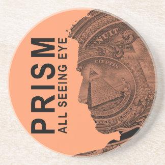 PRISMA - alles sehende Auge - Aprikose Getränkeuntersetzer
