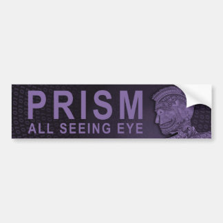 PRISMA - alles sehende Auge - lila Autoaufkleber