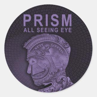 PRISMA - alles sehende Auge - lila Runder Aufkleber
