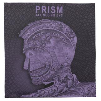 PRISMA - alles sehende Auge - lila Serviette