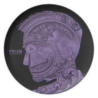 PRISMA - alles sehende Auge - lila Teller