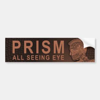 PRISMA - alles sehende Auge - Orange Autoaufkleber