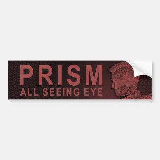 PRISMA - alles sehende Auge - Rot Autoaufkleber