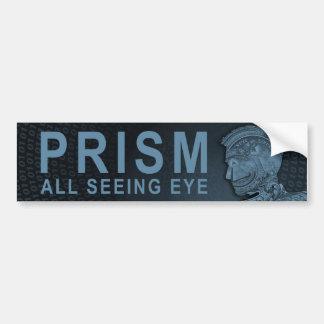PRISMA - alles sehende Auge - Schiefer Autoaufkleber