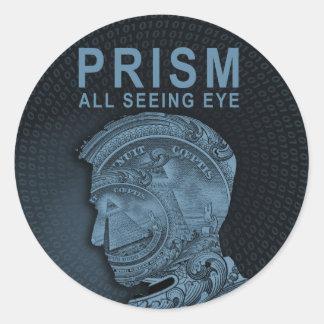 PRISMA - alles sehende Auge - Schiefer Runder Aufkleber